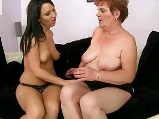 naughty teen and unattractive granny have sex