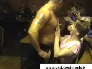 drunk wives attacking schlongs in stripper bar