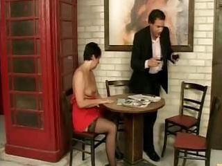 mature brunette in sexy nylons demands to acquire