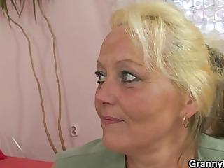 old blonde slut gets hammered