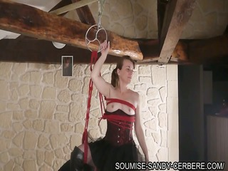 french slave sadomasochism hogtied and fist