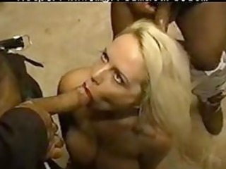 sexy dumb granny is flawless for group sex by