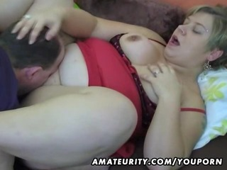 chubby non-professional wife homemade engulf and