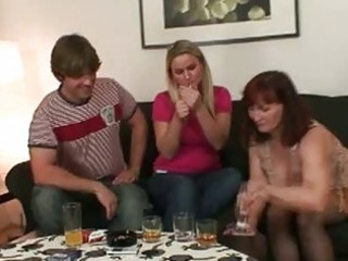 lewd brunette hair momma opens cum hungry face