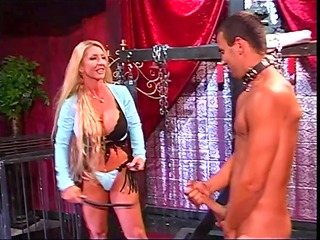 breasty blonde dominatrix-bitch plays coarse with