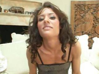 mature honey with curly hair receives her