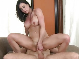 amazing breasty dark brown mother i riding a