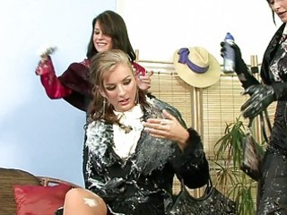 stylish milf ladies having group lesbian sex