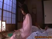 lascivious japanese aged sweethearts engulfing