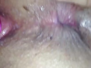 unaware wife - dildo act - up close rectal hole