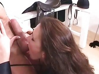 tough british milf receives sex cream