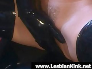 lesbians in rubber fingering soaked slits