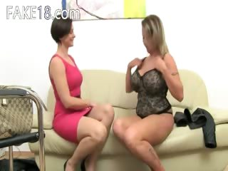 aged pornstar fucking on leather couch