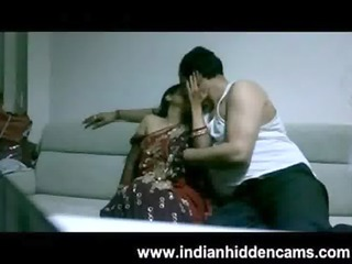 mature indian pair in lounge after party seducing