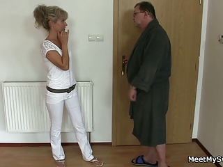 horny mommy and dad fucks their sons gf