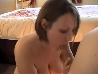 breasty abode wife gives oral-service-sex