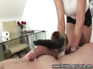 aged british femdom tugjob ejaculation