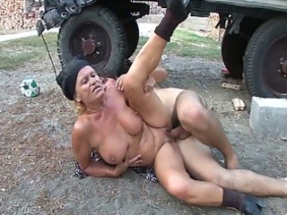 excited granny receives her juicy bald pussy