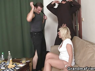 lonely granny swallows dicks