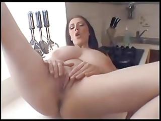 large tits mother i masturbates on kitchen counter