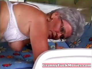 dude pounds granny her mature beaver