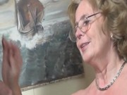 pierced german granny getting fucked hard by a