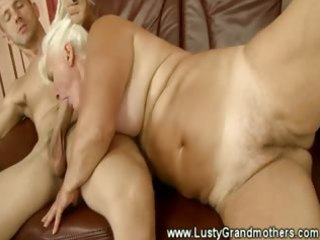 golden-haired granny loves to get immodest in