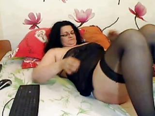 mature big beautiful woman in white satin panties