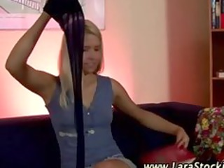 real european lesbo playgirl in stockings teases