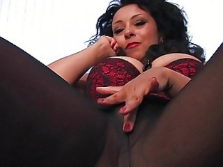 nasty dark haired d like to fuck in darksome hose