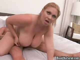 Horny blonde big boobed MILF slut part3