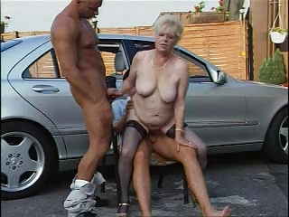 granny in nylons plays with jocks