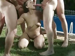 granny in extraordinary pissing and blowjob act