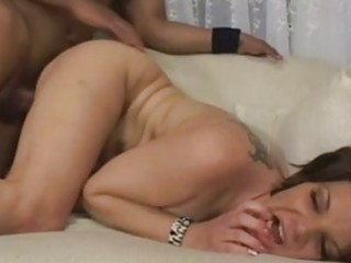 enormous chested brunette hair momma with tattoo
