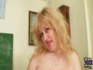 breasty milf teacher copulates herself with a