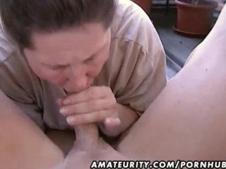 corpulent non-professional wife homemade oral