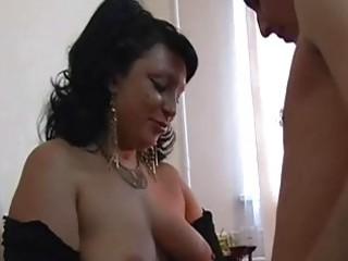 big tits fat older brunette...