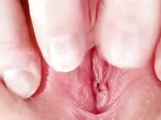 unsightly redhead mamma toys her hairy pussy