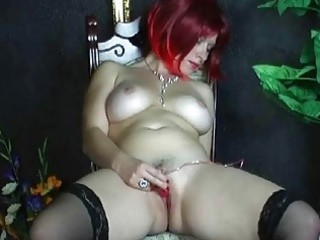 breasty amateur wife toying her bald love tunnel