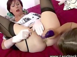 aged stocking british lesbian dildo