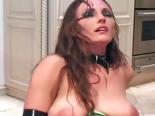 d like to fuck copulates in latex lingerie boots