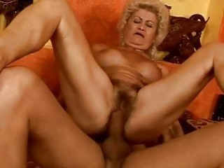 nasty busty granny acquires her cookie fucked hard
