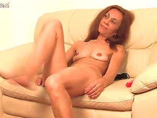 old european whore grinding on the daybed