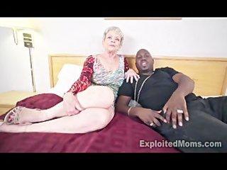granny in creampie interracial movie scene
