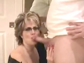 older wife with large scoops facial