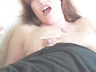 fucking a delightsome granny and cum on her love