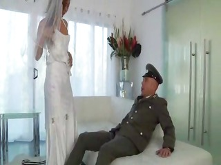 youthful latin babe bride one last fuck