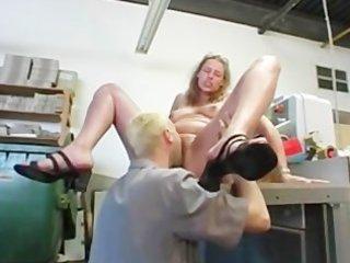overweight blonde german aged
