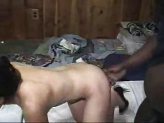 asian wife being used by dark bull in front of