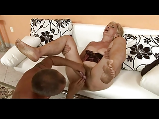 bushy golden-haired granny is a whore by troc